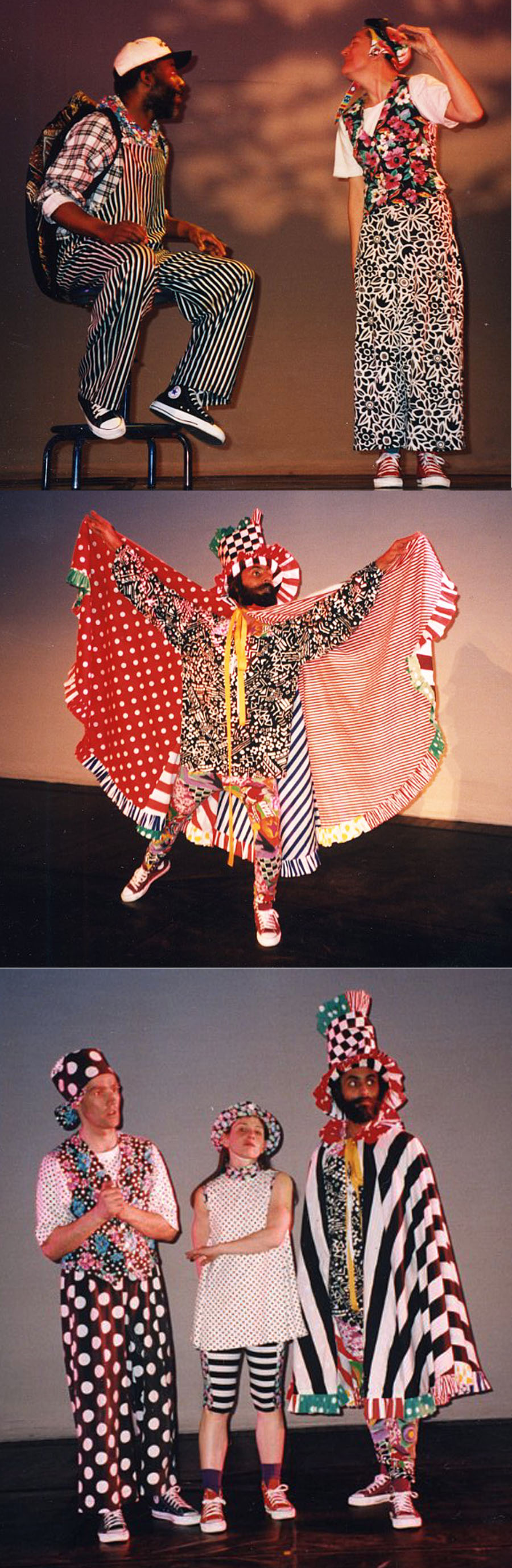 "My costume designs and costume construction for for Janet Lilly\'s ""Storybook\"" at the Michigan Theater  Ann Arbor, Michigan 1992."