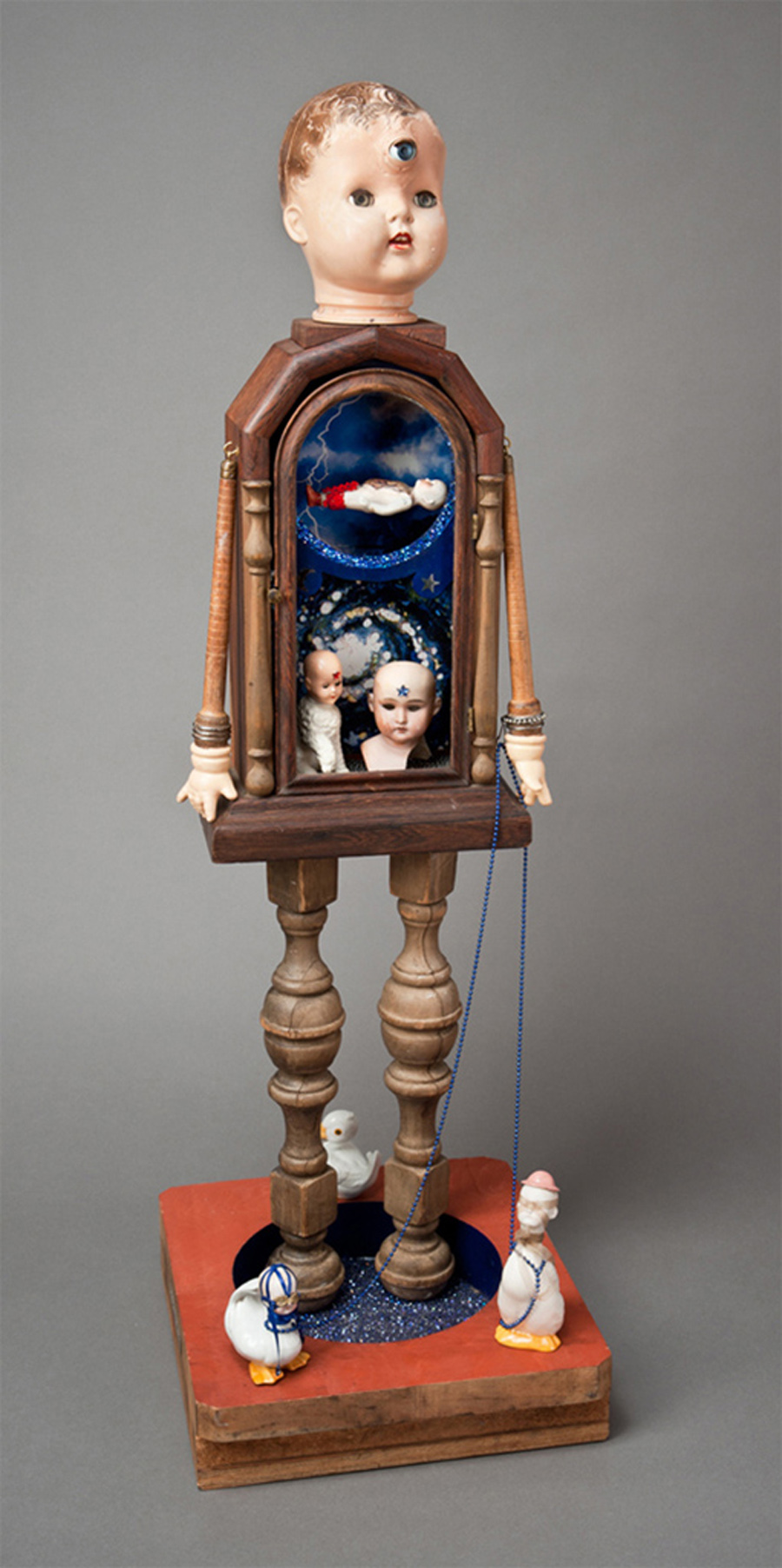 """Dream Children #2\""  mixed-media assemblage from found objects  38\""h x 46\""w x 14\""d  2011"