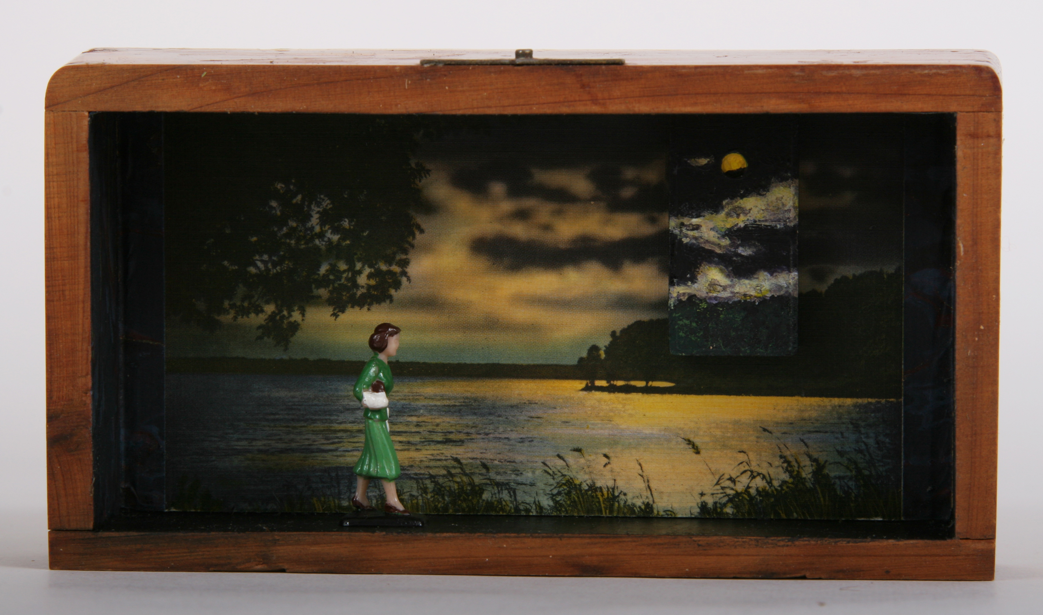"""Moonlight Scene #15: Woman In Green\""