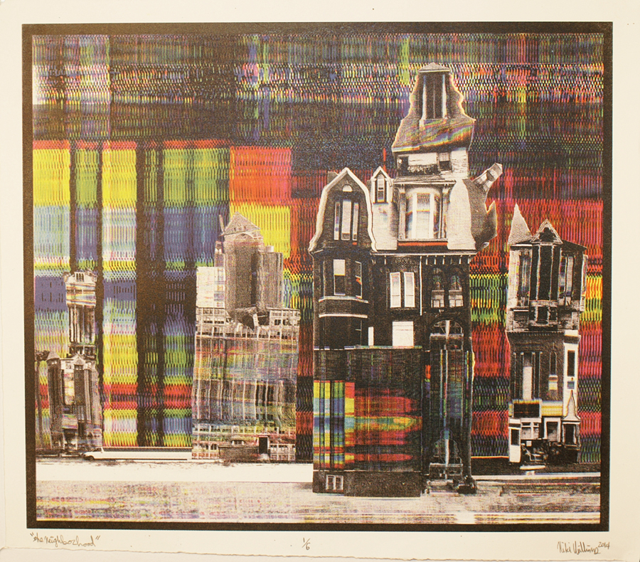 "Nicki Williams, ""The Neighborhood\"", 4-color halftone photolithograph, 2014"