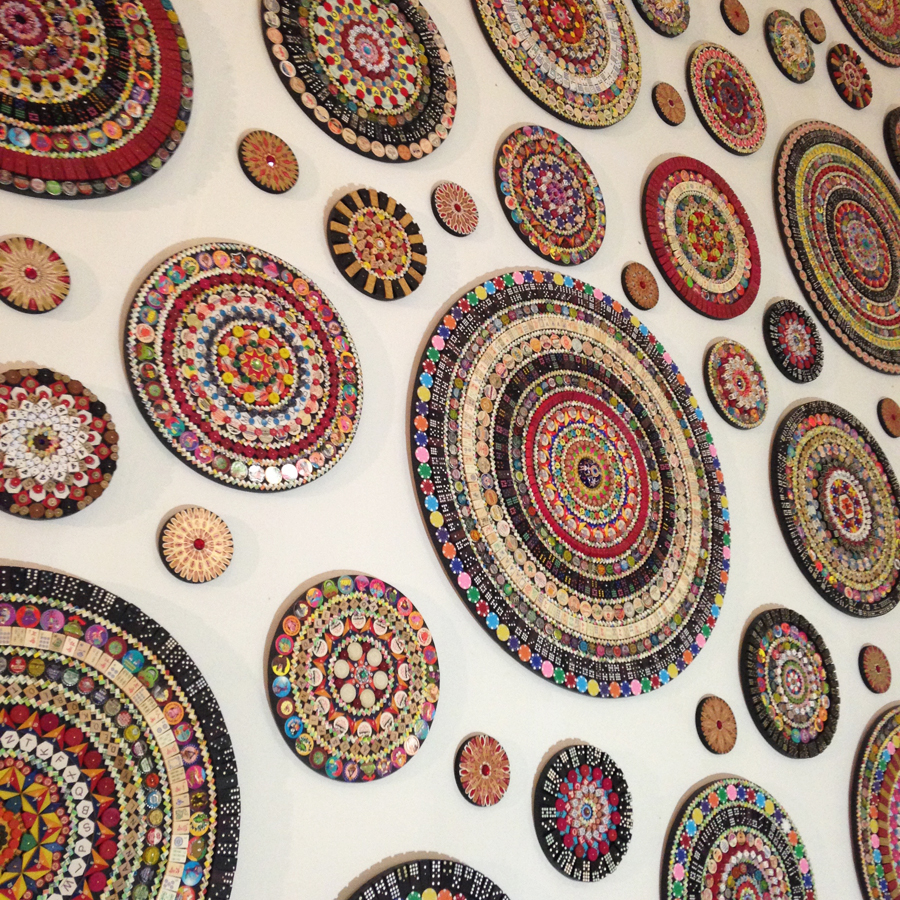 "Mandala Project (detail) installed in Toledo, Ohio in an empty midcentury department store for Gallery Project\'s ""Wish List\"". August 2015"