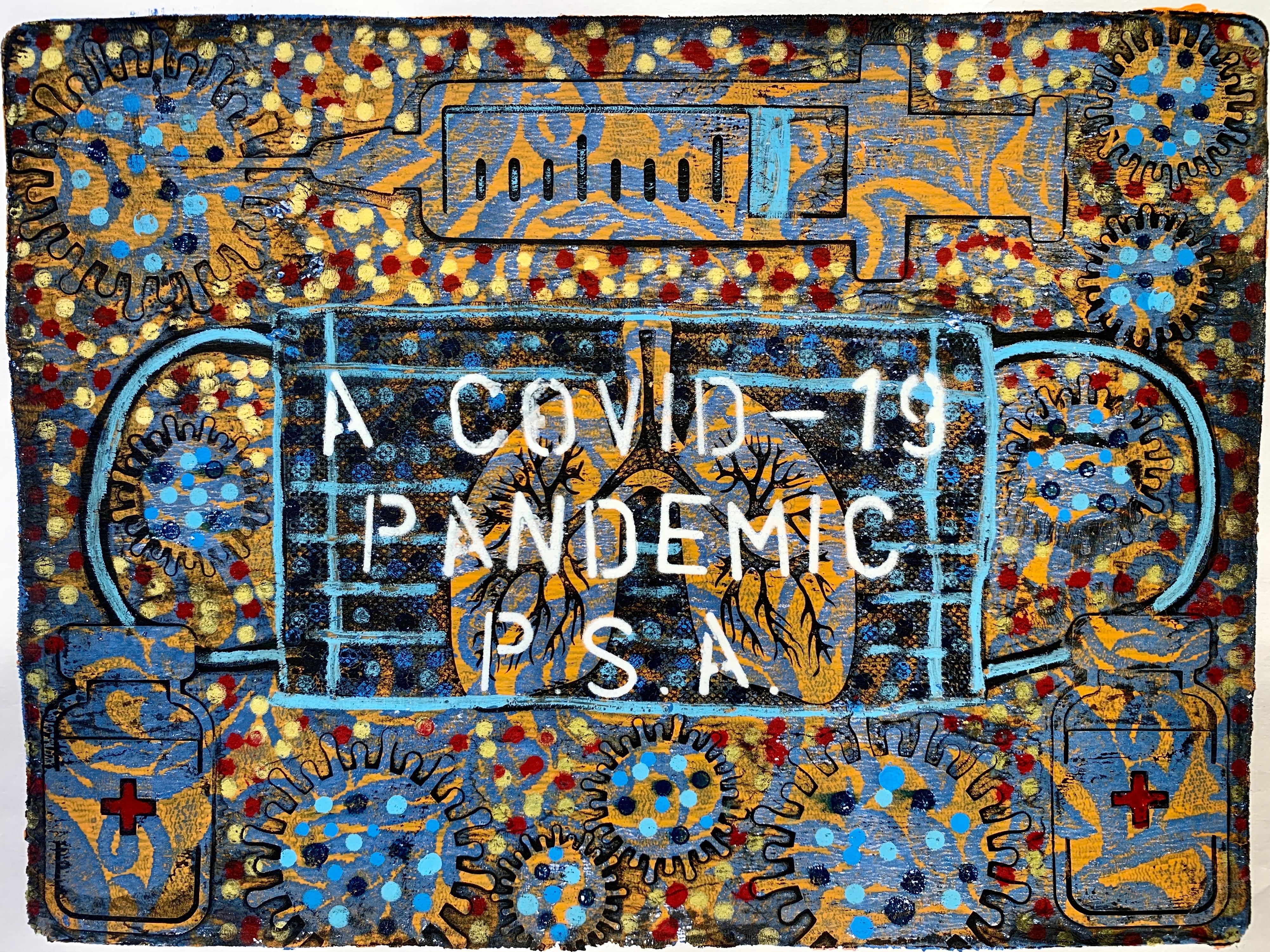COVID-19 Pandemic PSA Monoprints